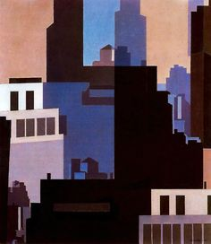 Charles Sheeler - Canyons // In this picture I really like the way that the colours are very calming and not aggressive. I also like the way that depth that is portrayed in the buildings. Charles Sheeler, Charles Demuth, Charles Charles, Jackson Pollock, Visual Elements Of Art, Munier, Pop Art, Robert Motherwell, Richard Diebenkorn