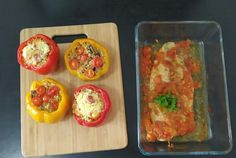 A vegetarian quinoa healthy recipe with baked tomato fish to enjoy dinner with my family. The quinoa is stuffed inside the capsicums along with tasty and protein-rich tofu and mushroom. A healthy and tasty dinner does not always need to include a long list of ingredients. Simple ingredients can make a satisfying meal. A gluten-free diet is not only common among gluten intolerant and celiac people. This is a trend to accommodate gluten-free grains like millets, rice. When talking about quinoa, th