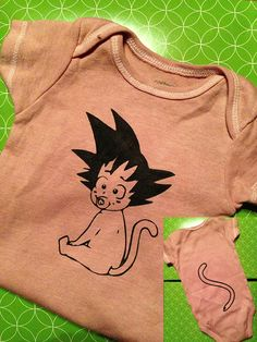 Baby Goku Onesie - 3 month old. $12.00, via Etsy.