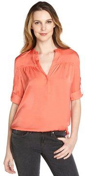 so cute -- BCBGMAXAZRIA coral reef 'Evander' ruched drawstring waist poet blouse  -- http://www.hagglekat.com/bcbgmaxazria-coral-reef-evander-ruched-drawstring-waist-poet-blouse/