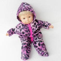 """Fits 15"""" Bitty Baby or Bitty Twin and other similar sized dolls. I make clothes to fit the 15"""" Bitty Baby, Boy twin, Girl Twin, and 18"""" American Girl. Polar Fleece fabric provides a comfy fit, and an zipper open adds pull-on simplicity."""