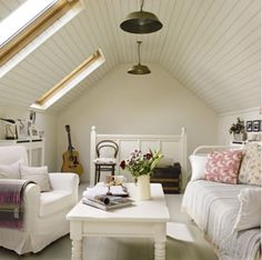 Attic space with sunlights