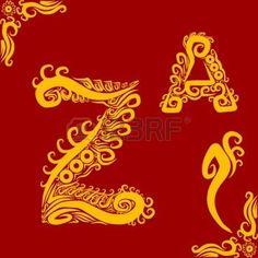 letter z: Decorative Alphabet Z