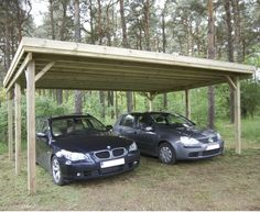 Carport double 30 m²