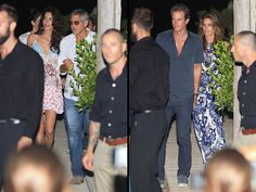 George and Amal Clooney Join Rande Gerber and Cindy Crawford in Ibiza for a Tequila-Related Work Trip
