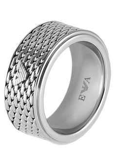 bestil Emporio Armani Ringe - silver-coloured til kr 1.095,00 (17-11-16). Køb hos Zalando og få gratis levering.