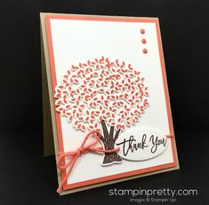 Stampin' Up! Thoughtful Branches Thank You Card Idea - Mary Fish StampinUp