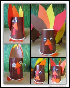 Turkeys from Paper Cups via RainbowsWithinReach