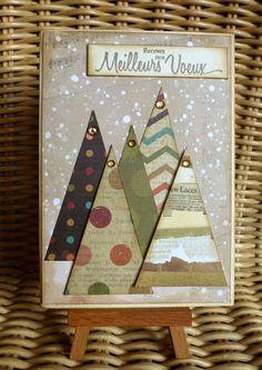 Ideas Birthday Greetings Cards Handmade Simple For 2019 Stamped Christmas Cards, Simple Christmas Cards, Christmas Card Crafts, Homemade Christmas Cards, Christmas Art, Homemade Cards, Birthday Greeting Cards, Birthday Greetings, Greeting Cards Handmade