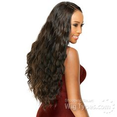 FreeTress Equal Double Weave – Invisible Part Stunning Wave 5 PCS Braided Ponytail Hairstyles, Indian Hairstyles, Weave Hairstyles, Natural Weave, Weave Styles, Half Wigs, Creative Hairstyles, Colored Highlights, Remy Hair