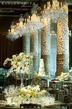 Luminous reception at The Drake Hotel #weddings #thereception #blisschicago