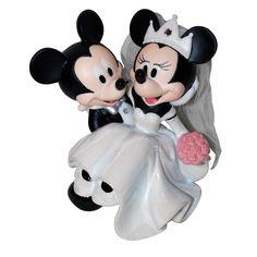 Disney de Mickey y Minnie figura decorativa para bodas/decoración para tarta para