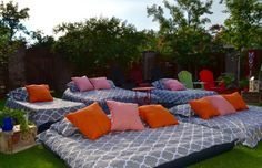 Air mattresses for movie night
