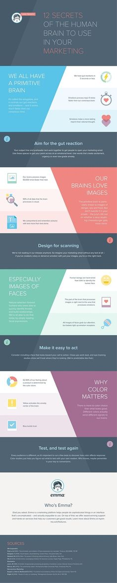 Customer Behavior - 12 Secrets of the Human Brain to Use in Your Marketing #Infographic #infografía