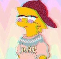 Os simpsons, tumblr, Lisa Simpsons, desenho, papel de parede, wallpaper