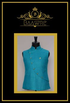 Baawre, New Delhi. We offer bespoke clothing, crafted in exclusive designs, that are tailored for your comfort and to reflect your taste. Nehru Jackets, Chef Jackets, Mens Ethnic Wear, Bespoke Clothing, Summer Colours, Indian Groom, Festival Wear, Summer Wear, Designer Wear