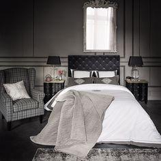 chambre - gris - classique - élégant - Maisons du monde / bedroom - grey