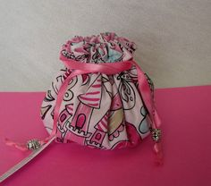 Jewelry Tote Travel Drawstring Pouch Bag for Jewelry Mini Size NIGHT VIOLET