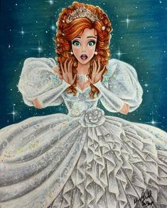 Cinderella - Disney Princess Drawings by Max Stephen EDIT: this is definitely Giselle, from Enchanted. Disney Pixar, Walt Disney, Cinderella Disney, Disney And Dreamworks, Punk Disney, Disney Facts, Disney Rapunzel, Disney Villains, Disney And More