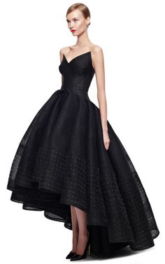 Embroidered Organza Gown by Zac Posen for Preorder on Moda Operandi