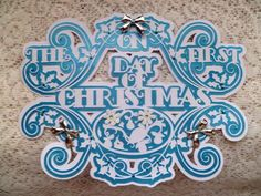 On The First Day Of Christmas Topper CraftROBO Cameo on Craftsuprint designed by Tina Fitch - beautiful layered topper for your own designed cards - Now available for download!