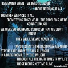 Those Nights-Skillet Brings me back about 9 years ago... Sometimes it all seems like a dream... Crazy how life can change so drastically.
