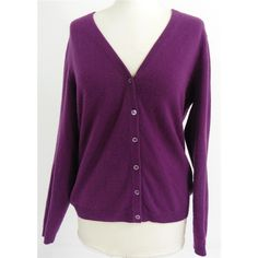 Pure Collection Size 12 High Quality Soft and Luxurious Pure Cashmere Mulberry Cardigan | Oxfam GB | Oxfam's Online Shop
