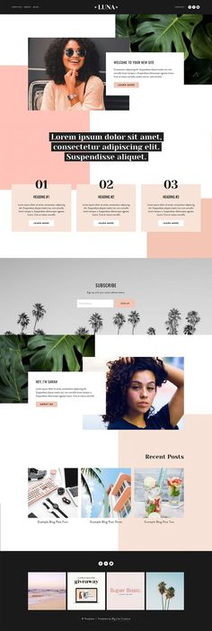Squarespace Website Template Kit:LUNA Create your gorgeous new website with our easy to use Squarespace Template Kits! squarespace for photographers, squarespace blog template, squarespace design, squarespace tutorial, squarespace tips, website design, website layout, website template, website inspiration, creative website design, small business, girlboss, build a website step by step, how to build a website, DIY website  #squarespace #templates #squaresp