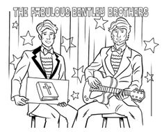 The Fabulous Bentley Brothers Coloring Page - Whats in the Bible