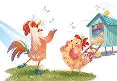 """Franco il gallo"" La Spiga-Lilliput edizioni on Behance Hedgehog Illustration, Children's Book Illustration, Book Illustrations, Bird Drawings, Art Drawings Sketches, Cute Little Drawings, Farm Yard, Book Art, Character Design"