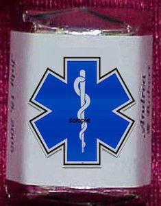 EMT Paramedic Medical Star of Life Candy Wrappers