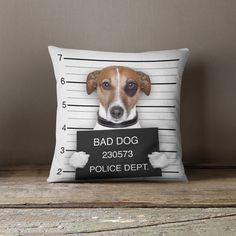 Jack Russell Pillow | Cool Pillows | Christmas Gift | Teen Gift | Cool Mens Gift | - Jacks Been a Bad Dog Pillow Case   ** Christmas Order
