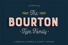 Bourton Typeface • 34 Fonts by Kimmy Design on @creativemarket (Aff Link)