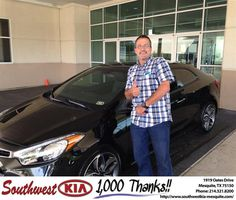 Congratulations to Marc Friedman on your new car   purchase from Jerry Tonubbee at Southwest Kia Mesquite! #NewCar
