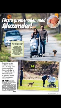 Prince Carl-Philip and Princess Sofia of Sweden were photographed while they were walking around Drottningholm Palace with their son, Prince Alexander and these new photos were published in the new issue of 'Svensk Damtidning' magazine.