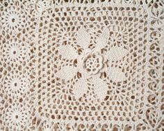 Crochet Bedspread for Twin Bed in Antique White by PattyMora