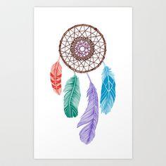 Dream+Catcher+Multi+Art+Print+by+Rachel+Caldwell+-+$20.00