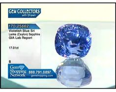 Violet blue 17 carat Ceylon sapphire comes with a GIA cert. #GemShopping #Shawn