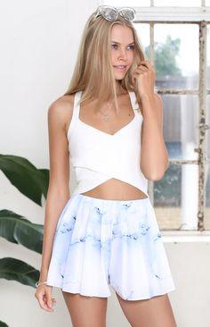 Whisper Shorts Blue Marble | Beginning Boutique