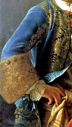 Detail from portrait of King Augustus III of Poland, 1755.