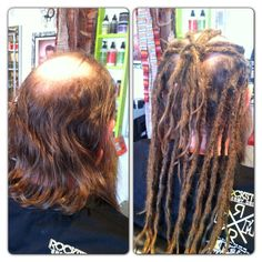 Before After Human Hair Dreadlock Extensions