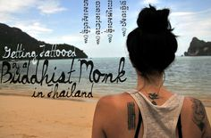 Dream of getting your skin marked while travelling? For something a bit more unique than that daisy you got on your hip in Sydney's King's Cross district, how about a customized, magical tattoo chosen and created by a monk?