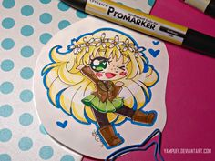 Marker Chibi Commission #4 Mitty by YamPuff.deviantart.com on @DeviantArt