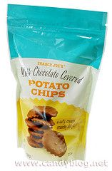 Chocolate covered potato chips! The hubby got them for me and they are soooo good!
