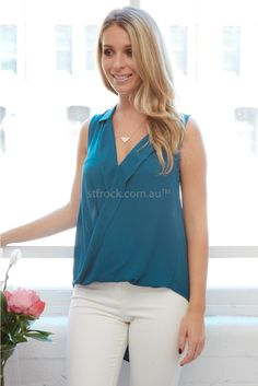 Impression Top in Teal | St. Frock $50 st frock