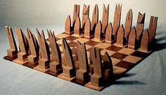Original Chess Set Design Gallery. No instructions, but a great idea for scraps.
