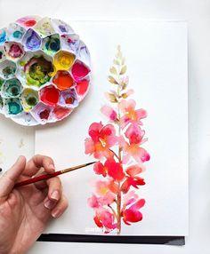 Watercolor Art Face, Watercolor Art Landscape, Watercolor Painting Techniques, Watercolor Projects, Watercolor Artists, Watercolor Cards, Watercolor Illustration, Watercolor Flowers, Watercolor Paintings