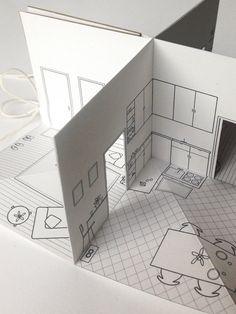 2 x 2 La mas bella casita de papel hecho a mano. Las partes delanteras y traseros de la casa se ilustran en las cubiertas. Abra el libro para descubrir                                                                                                                                                                                 Más