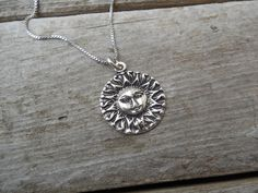 Sunface necklace cast in sterling silver by Billyrebs on Etsy