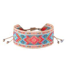 Best DIY Ideas Jewelry: Diamond Red Coral Turquoise – Mishky – Brazilian Bikini Shop -Read More – Loom Bracelet Patterns, Bead Loom Bracelets, Beaded Wrap Bracelets, Bead Loom Patterns, Friendship Bracelet Patterns, Seed Bead Jewelry, Bead Jewellery, Diy Jewelry, Beaded Jewelry
